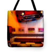 1950s American Diner - Featured In Vehicle Enthusiasts Tote Bag