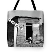 1950s Cocker Spaniel Puppy In Doghouse Tote Bag