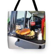 1950's Drive In Movie Snack Tray Tote Bag