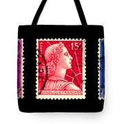 1950s French Postage Triptych Tote Bag