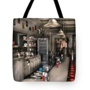 1950's - The Soda Fountain Tote Bag by Mike Savad