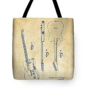 1951 Fender Electric Guitar Patent Artwork - Vintage Tote Bag