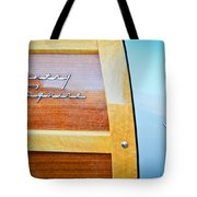 1951 Ford Woodie Country Squire Emblem Tote Bag