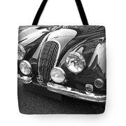 1951 Jaguar Xk120 In Black And White Tote Bag