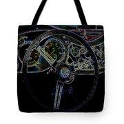 1951 Mg Td Dashboard_neon Car Art Tote Bag