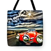 1951 Red Studebaker Tote Bag