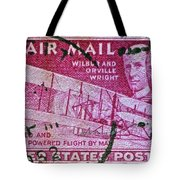 1952 Wright Brothers Stamp Tote Bag