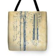 1953 Aerial Missile Patent Vintage Tote Bag