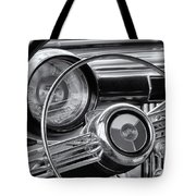 1953 Buick Super Dashboard And Steering Wheel Bw Tote Bag