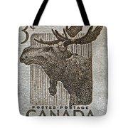 1953 Canada Moose Stamp Tote Bag