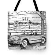 1953 Chevrolet Corvette Tote Bag