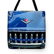 1953 Desoto Firedome Convertible Grille Emblem Tote Bag