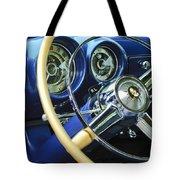 1953 Desoto Firedome Convertible Steering Wheel Emblem Tote Bag