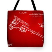 1953 Horse Toy Patent Artwork Red Tote Bag by Nikki Marie Smith