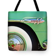1953 Hudson Hornet Sedan Wheel Emblem Tote Bag