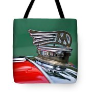 1953 Morgan Plus 4 Le Mans Tt Special Hood Ornament Tote Bag by Jill Reger