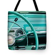 1954 Chevrolet Belair Steering Wheel 3 Tote Bag