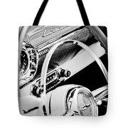 1954 Chevrolet Belair Steering Wheel Emblem -1535bw Tote Bag