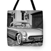 1954 Chevrolet Corvette -183bw Tote Bag