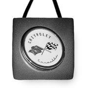 1954 Chevrolet Corvette Emblem -052bw Tote Bag