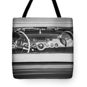 1954 Chevrolet Corvette Steering Wheel -139bw Tote Bag