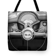1954 Chevrolet Corvette Steering Wheel -382bw Tote Bag