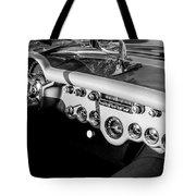 1954 Chevrolet Corvette Steering Wheel -502bw Tote Bag