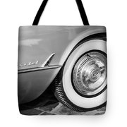 1954 Chevrolet Corvette Wheel Emblem -159bw Tote Bag