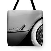 1954 Chevrolet Corvette Wheel Emblem -282bw Tote Bag