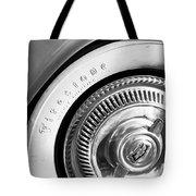 1954 Chevrolet Corvette Wheel Emblem -290bw Tote Bag