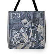 1954 Czechoslovakian Scientist Stamp Tote Bag