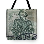 1954 Czechoslovakian Soldier Stamp Tote Bag