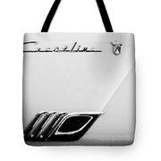 1954 Ford Crestline Skyliner Emblem -0560bw Tote Bag