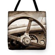 1954 Jaguar Xk120 Roadster Steering Wheel Emblem Tote Bag