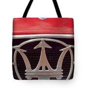 1954 Maserati A6 Gcs Emblem Tote Bag by Jill Reger