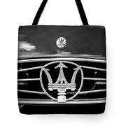 1954 Maserati A6 Gcs Grille Emblem -0259bw Tote Bag