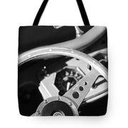 1954 Mg Tf Steering Wheel Emblem -0920bw Tote Bag