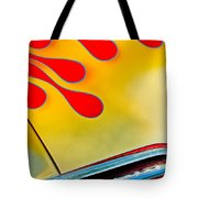 1954 Studebaker Champion Coupe Hot Rod Red With Flames - Grille Emblem Tote Bag