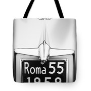 1955 Alfa Romeo 1900 Css Ghia Aigle Cabriolet Grille Emblem - Super Sprint Emblem -0601bw Tote Bag