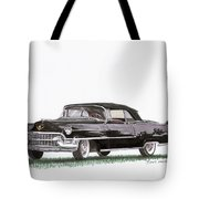 1955 Cadillac Series 62 Convertible Tote Bag