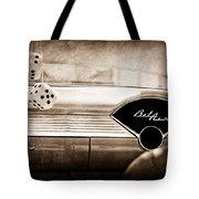 1955 Chevrolet Belair Dashboard Emblem Tote Bag
