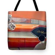 1955 Chevrolet Belair Dashboard Tote Bag