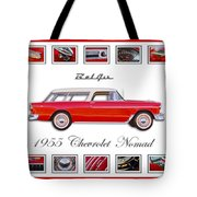 1955 Chevrolet Belair Nomad Art Tote Bag