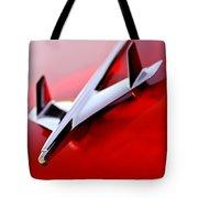 1955 Chevrolet Belair Nomad Hood Ornament Tote Bag