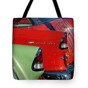 1955 Chevrolet Belair Nomad Taillights Tote Bag