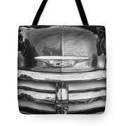 1955 Chevrolet First Series Bw Tote Bag