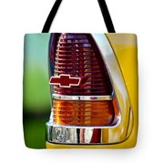 1955 Chevrolet Taillight Emblem Tote Bag