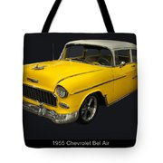 1955 Chevy Bel Air Harvest Gold Tote Bag