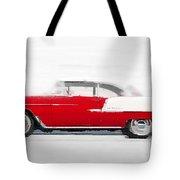 1955 Chevy Bel Air Watercolor Tote Bag