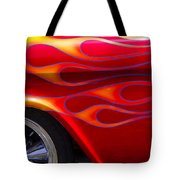 1955 Chevy Pickup With Flames Tote Bag